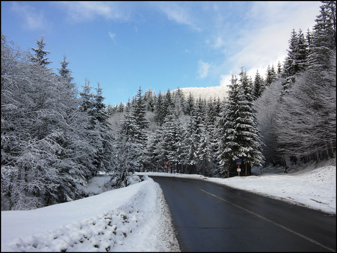 iarna pe DN1A