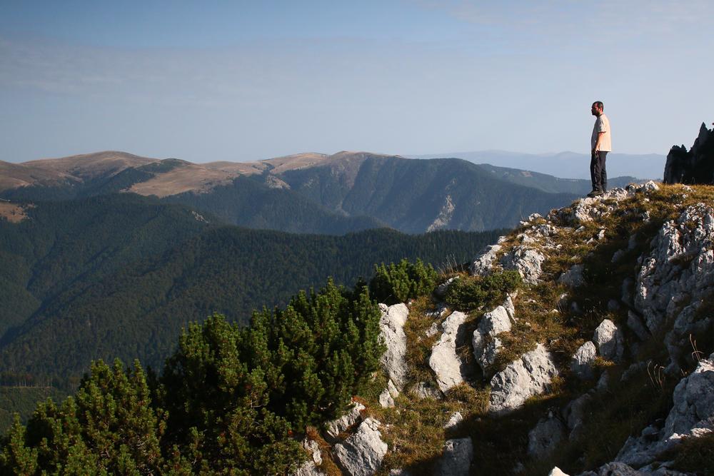 privind munții căpățânii de pe vf. buila