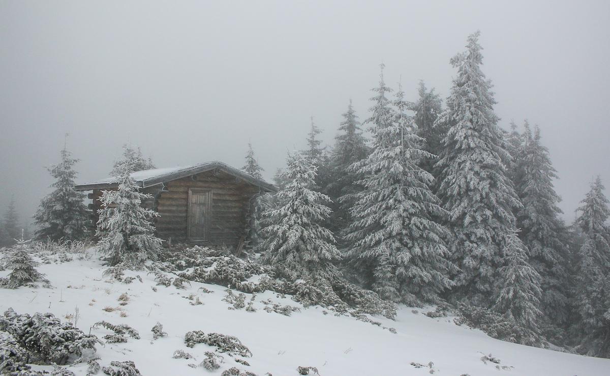 Refugiul Ocolașu Mic iarna