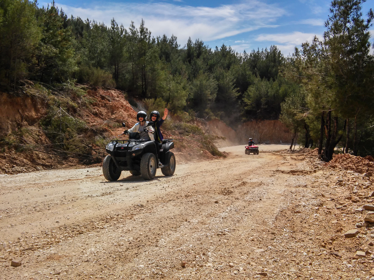 ATV in Thassos